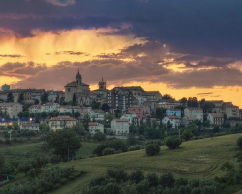 Montefano - Panorama al tramonto - rid
